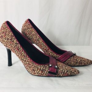 """Lines Paolo Tweed 3"""" Heels Size 5M"""